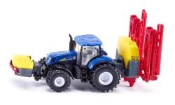 SIKU Farmer - Traktor New Holland s rozprašovačem, měřítko 1:87