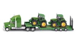 SIKU Farmer - Tahač s podvalníkem a traktory John Deere, 1:87