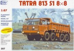 Tatra 813 8x8 S1 oranžová (stavebnice 1:87)