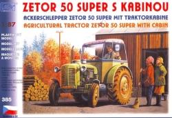 Zetor 50 Super s kabinou (stavebnice 1:87)
