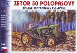 Zetor 50 Super polopásový (stavebnice 1:87)