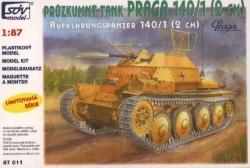 Praga PzKpfw 140/1 (2cm) průzkumný tank (stavebnice 1:87)