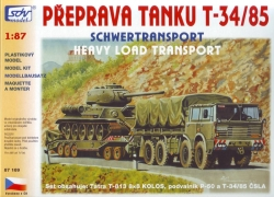 Tatra 813 8x8, P50, T-34/85 (stavebnice)